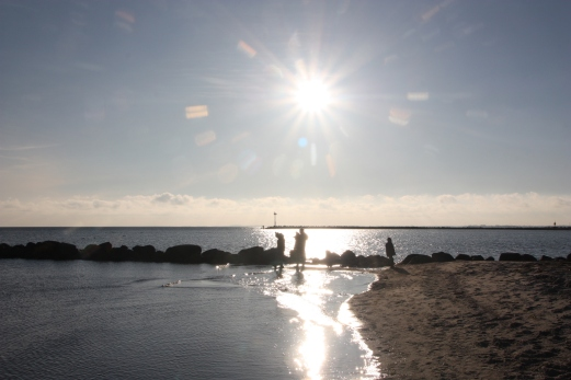 Abendsonne am Südstrand.